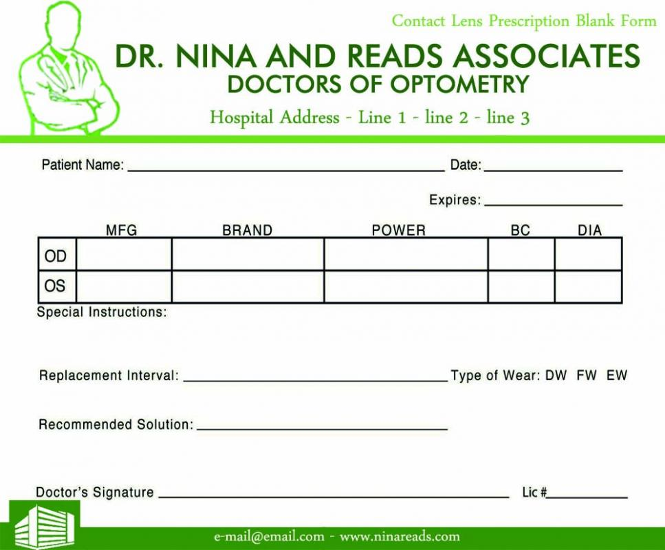 Prescription pad template for Prescription pad template download