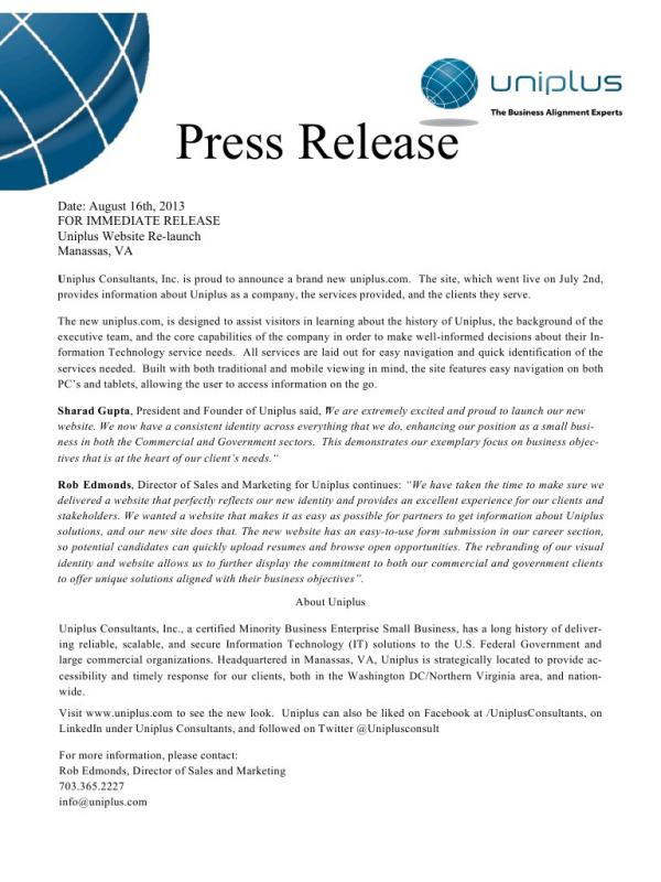 Press Release Format Gallery Download Cv Letter And