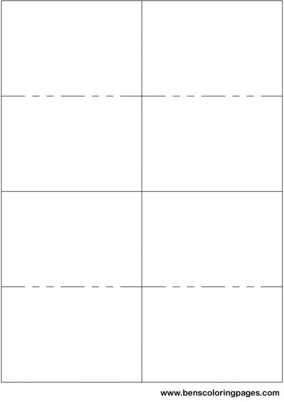 Printable flash card template for Avery flash cards template