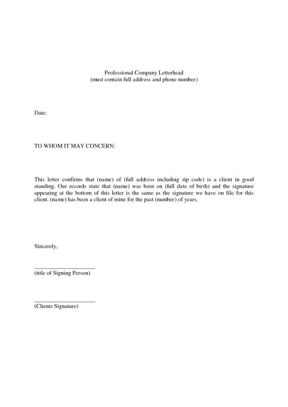 Skilled Reference Letter Template. Professional Reference Letter Template