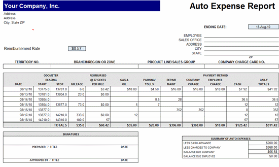 Fieldstation.co  Expense Report Example