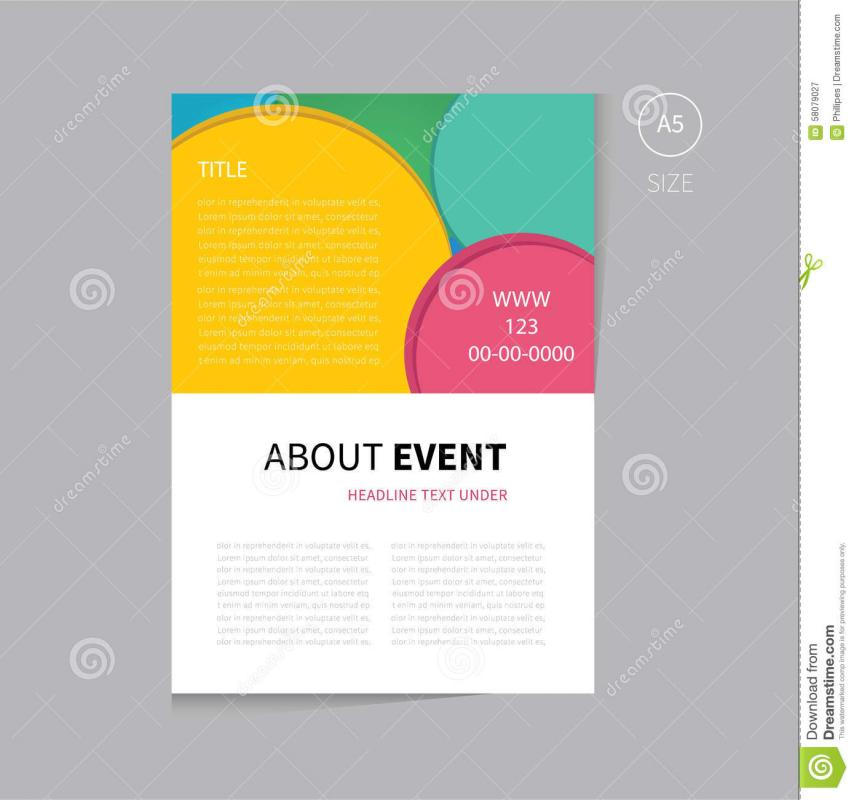 program booklet template