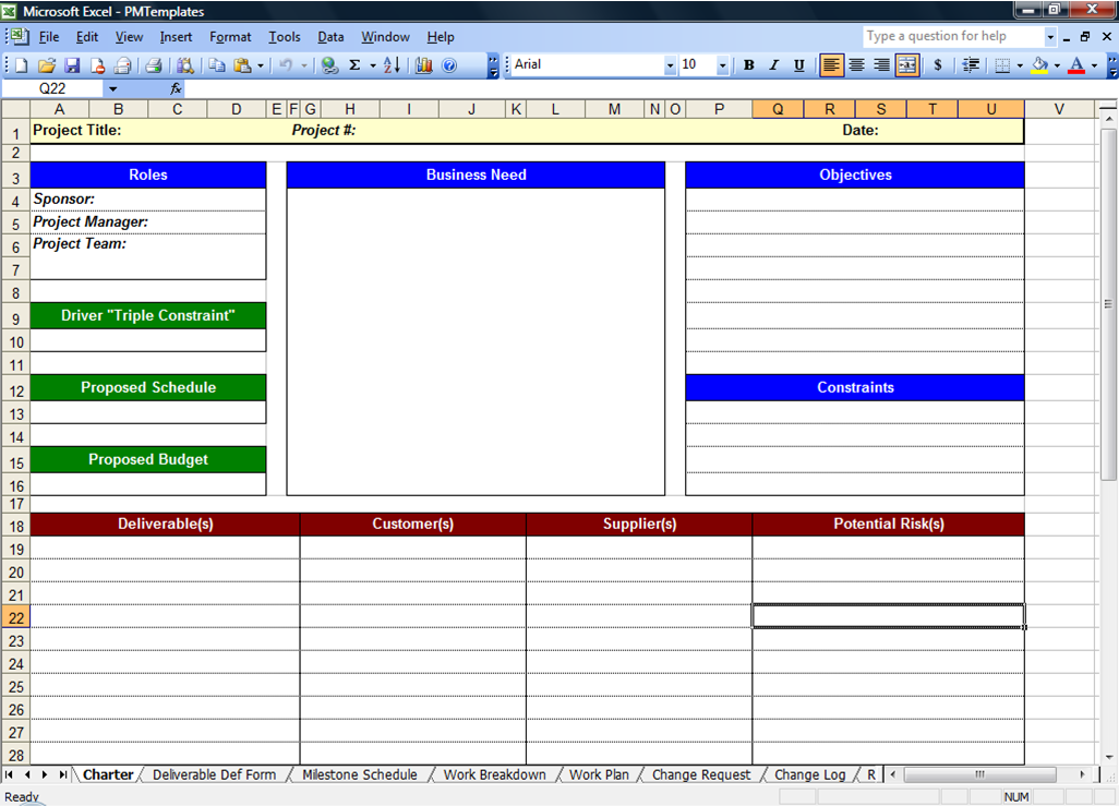 project management templates word
