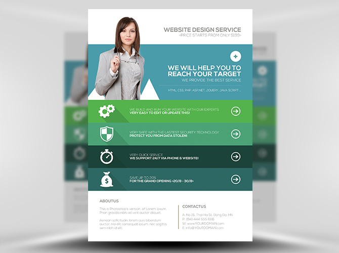 Promotional Flyer Template  ShatterlionInfo
