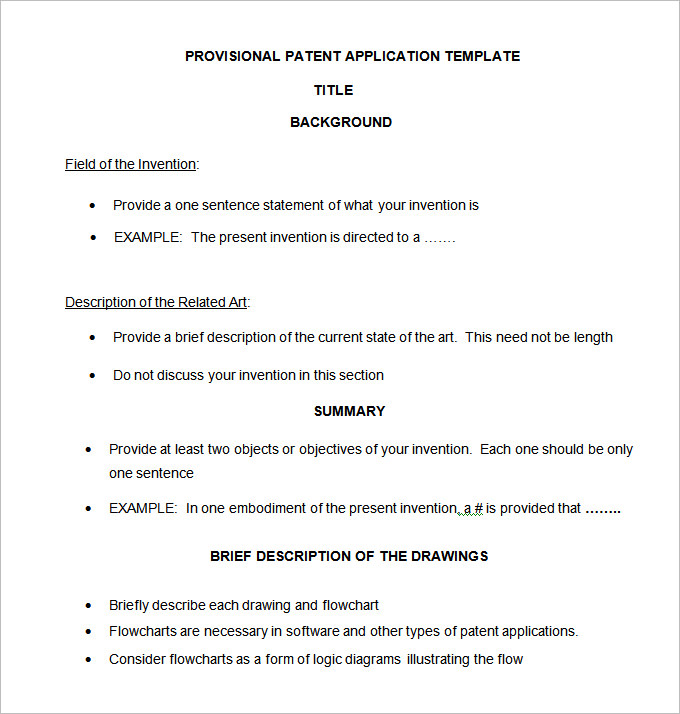 provisional patent template