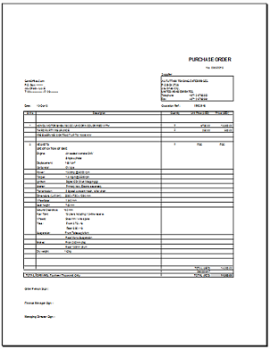 purchase order template excel