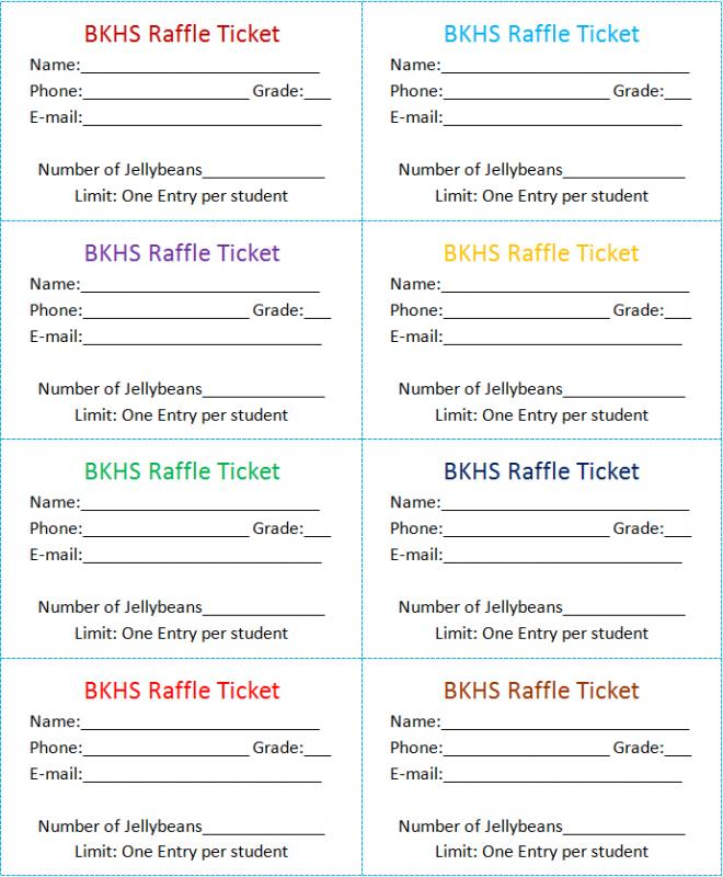 mailing raffle tickets