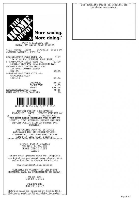 receipt template word