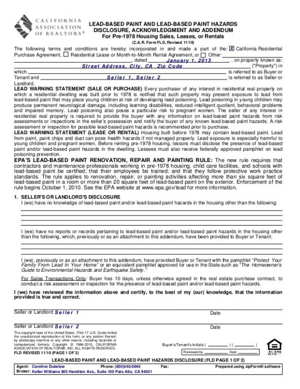 rental agreement template california