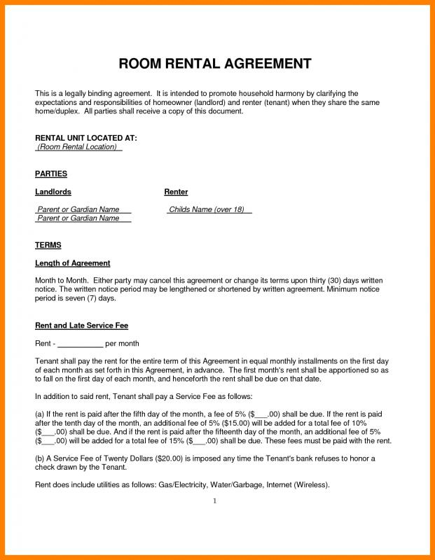 rental contract template free