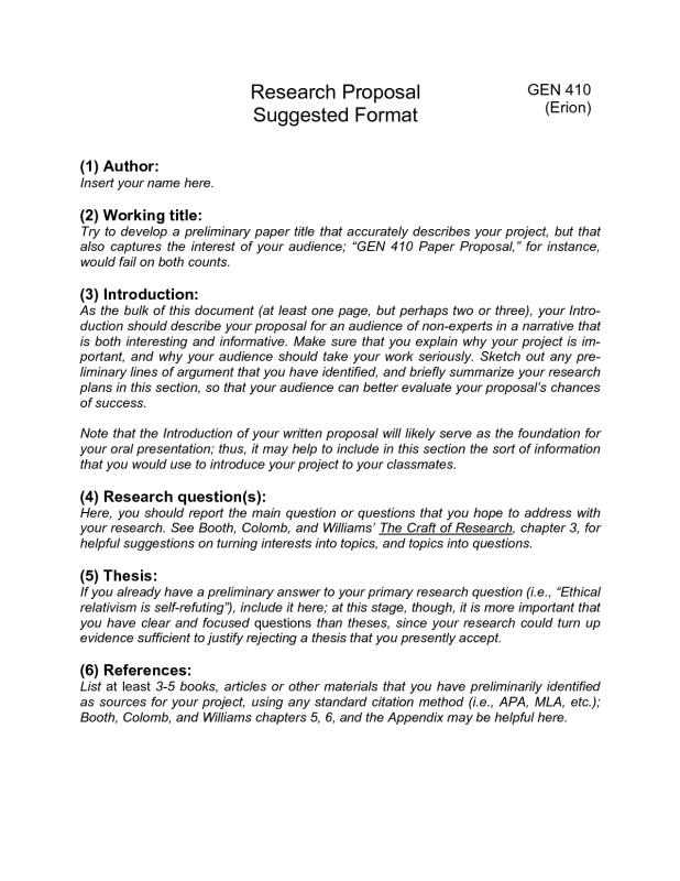 Research Paper Proposal Template Shatterlionfo