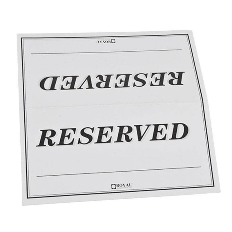 graphic about Reserved Sign Printable identified as Reserved Indication Template