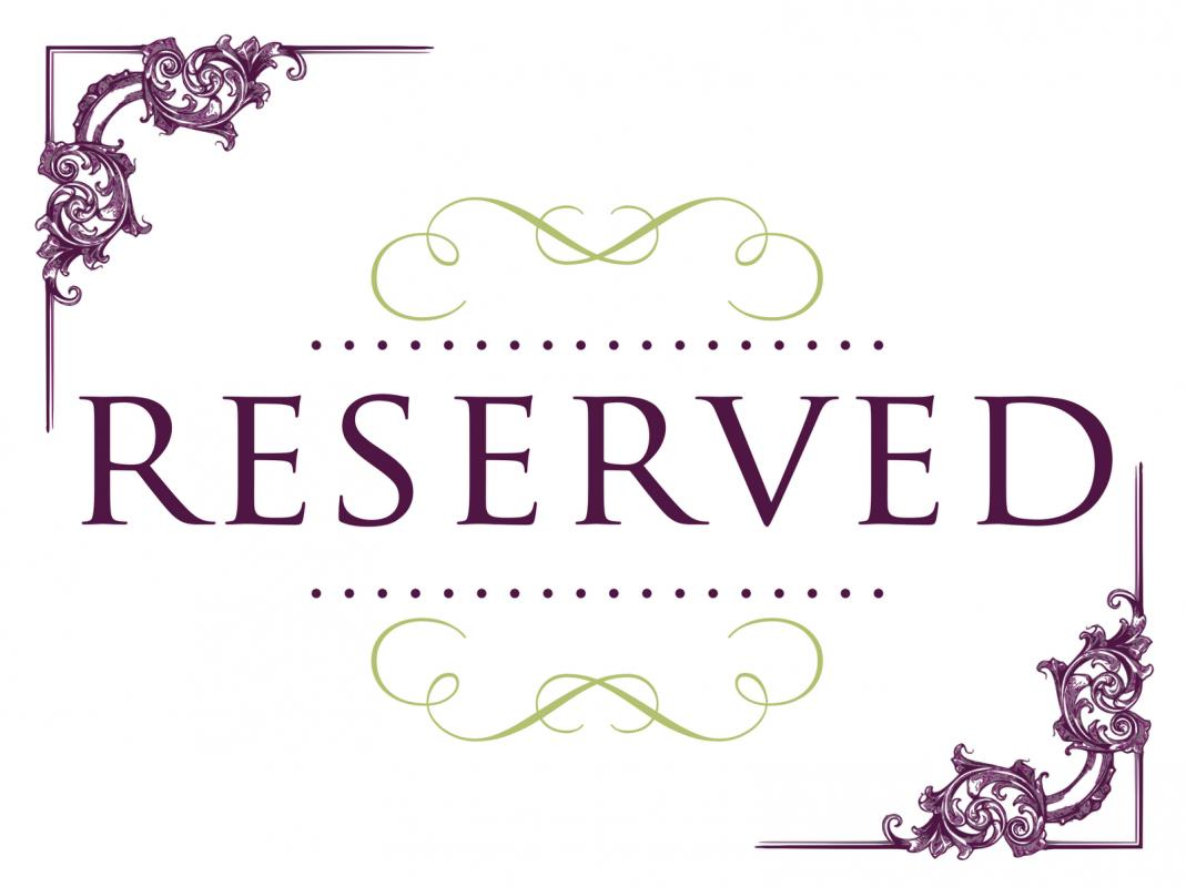 photograph regarding Printable Reserved Sign identified as printable reserved indicator -