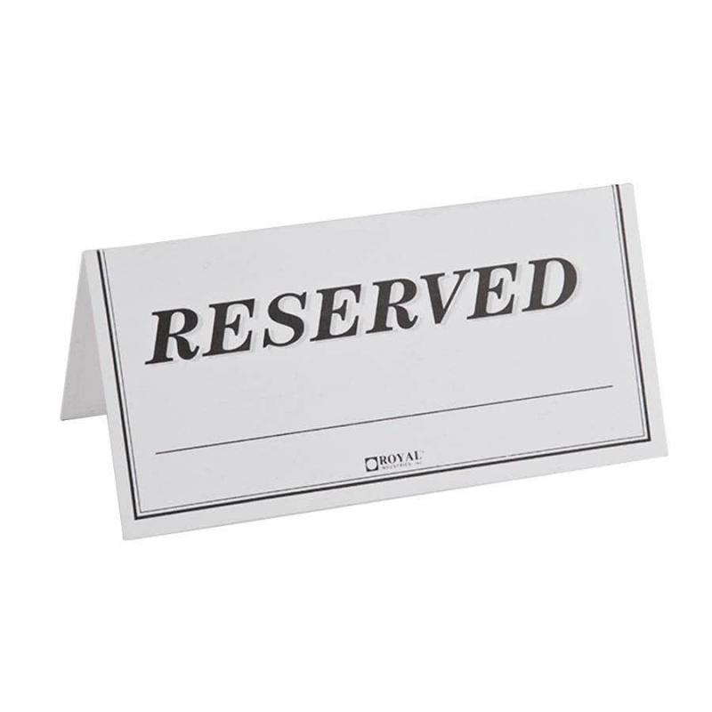Reserved sign template for Double sided name tent template