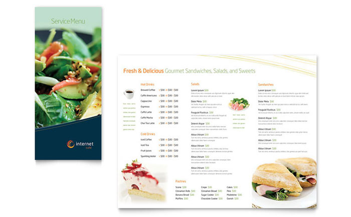restaurant menu template free