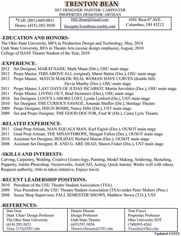 resume with picture template