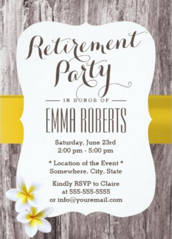 Retirement flyer template for Retirement announcement flyer template