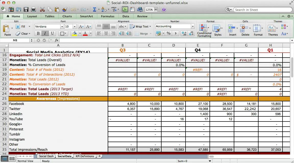 roi excel template