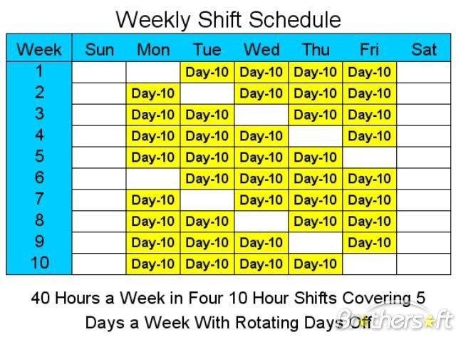 Rotating Shift Schedule Romeolandinezco - Rotating shift schedule template