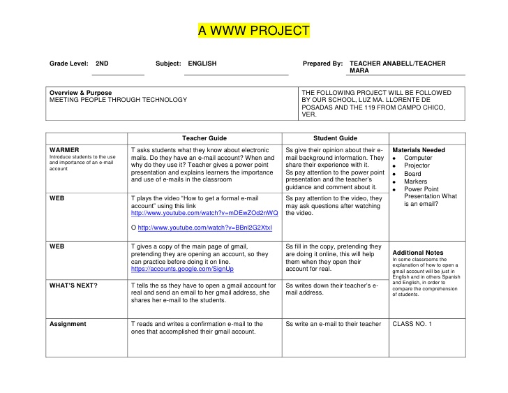 sample lesson plan template