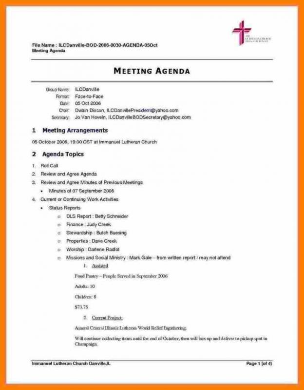 Pattern Meeting Agenda Template  Meeting Agenda Formats
