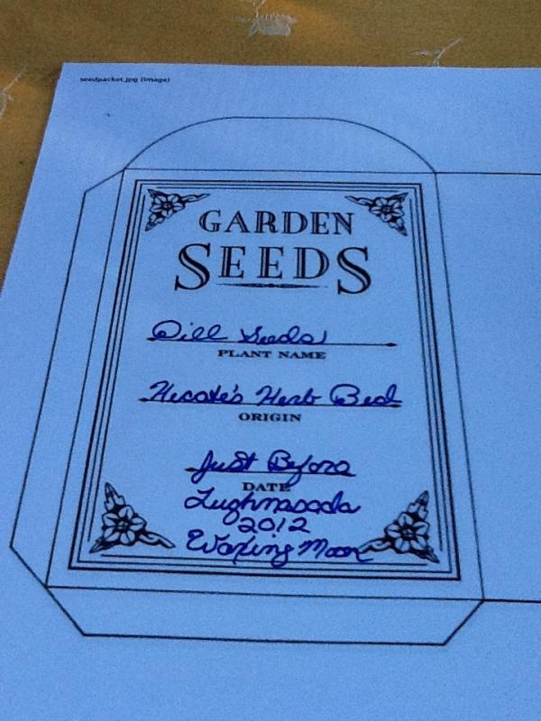 Seed Packet Template | shatterlion.info