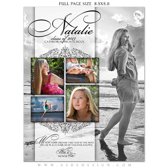 senior yearbook ad templates free