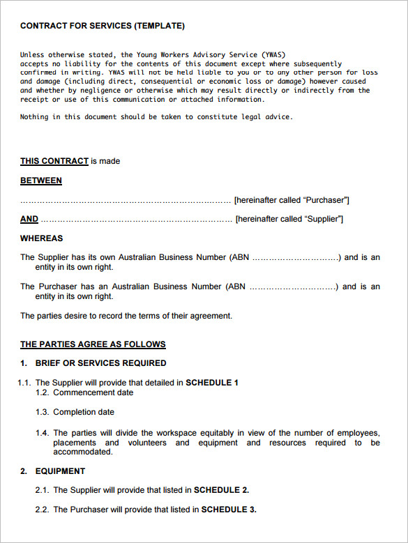 Superb Template  It Service Contract Template