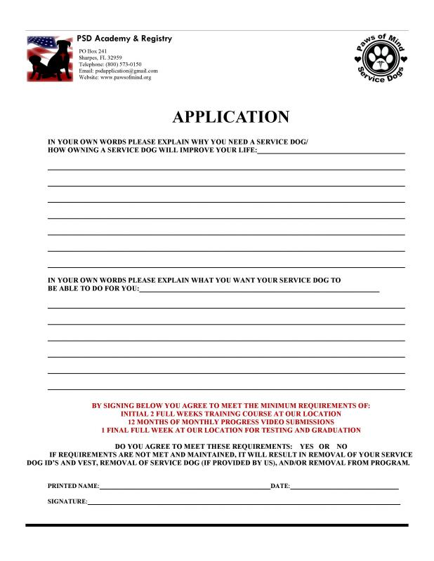 Service dog certificate template shatterlioninfo for Service dog certificate template