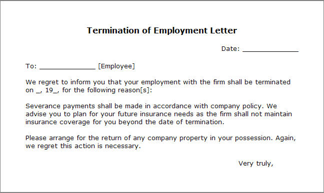 Severance Agreement Template  ShatterlionInfo