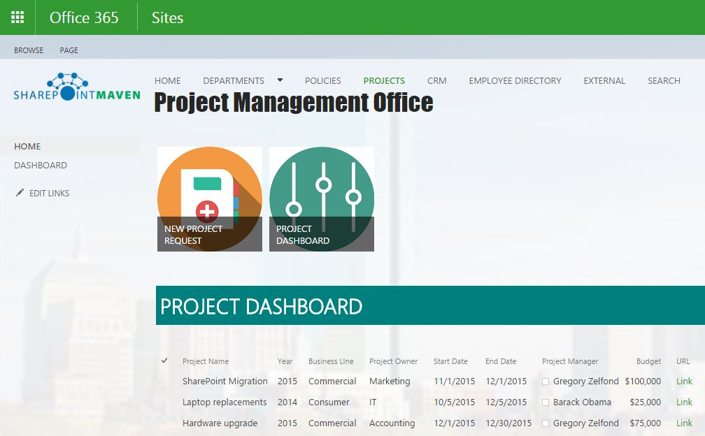 Sharepoint Project Management Template | shatterlion.info
