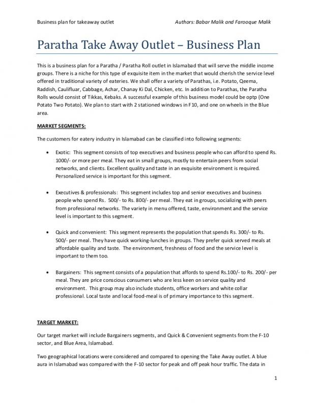 simple business plan template word