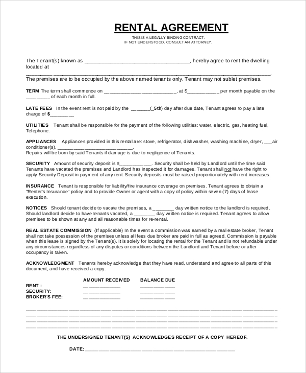 easy tools rental agreement template free simple equipment