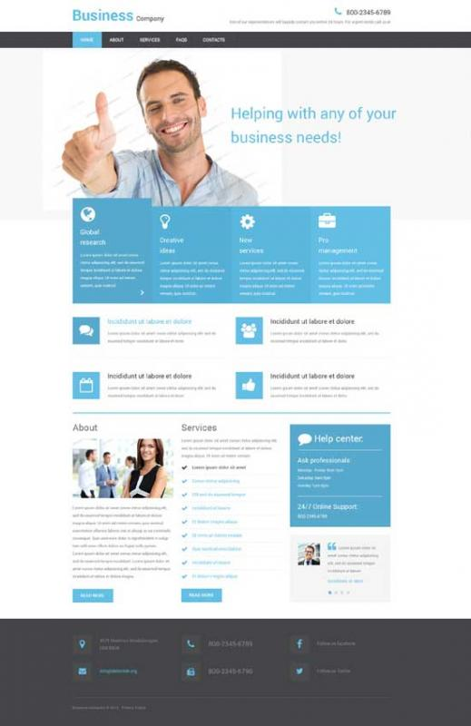 simple html website template
