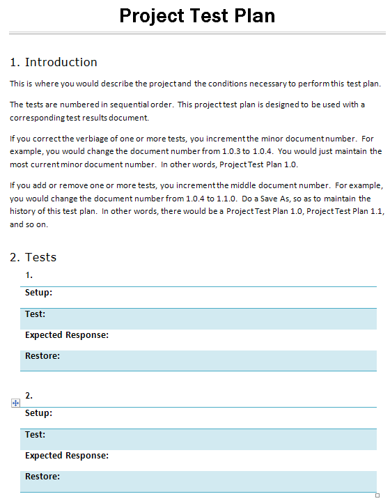Simple test plan template for Testplan template