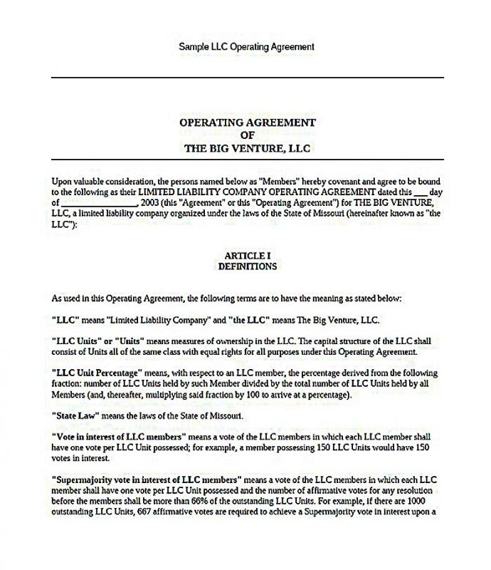 Single Member Llc Operating Agreement Template Free Shatterlioninfo - California llc operating agreement template
