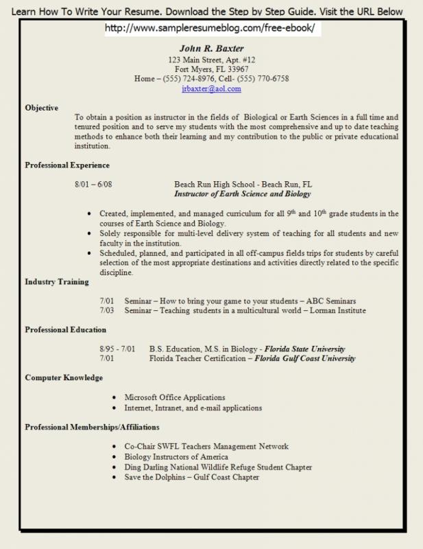 skills based resume template free