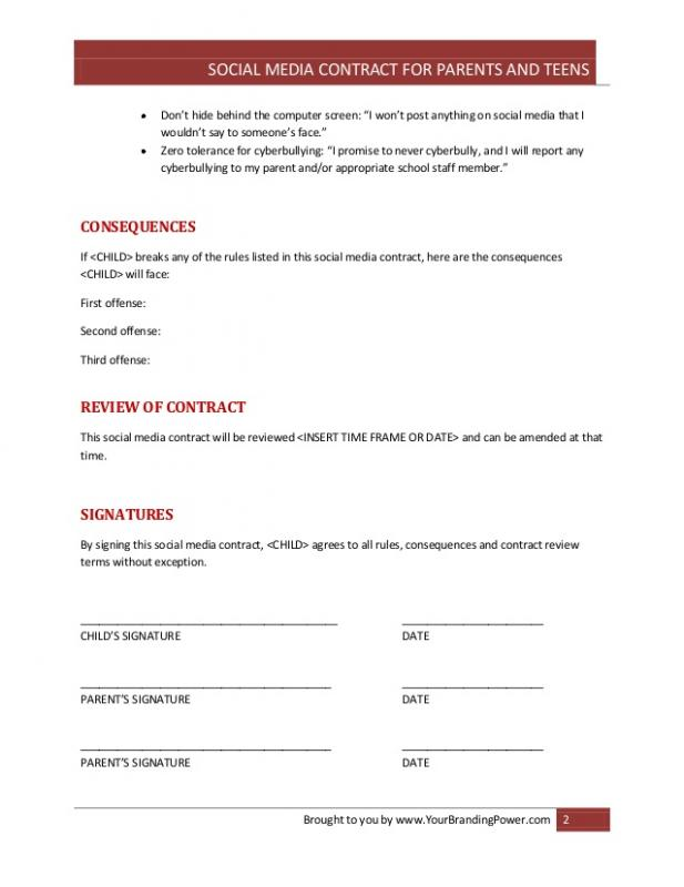 Social Media Contract Template | shatterlion.info