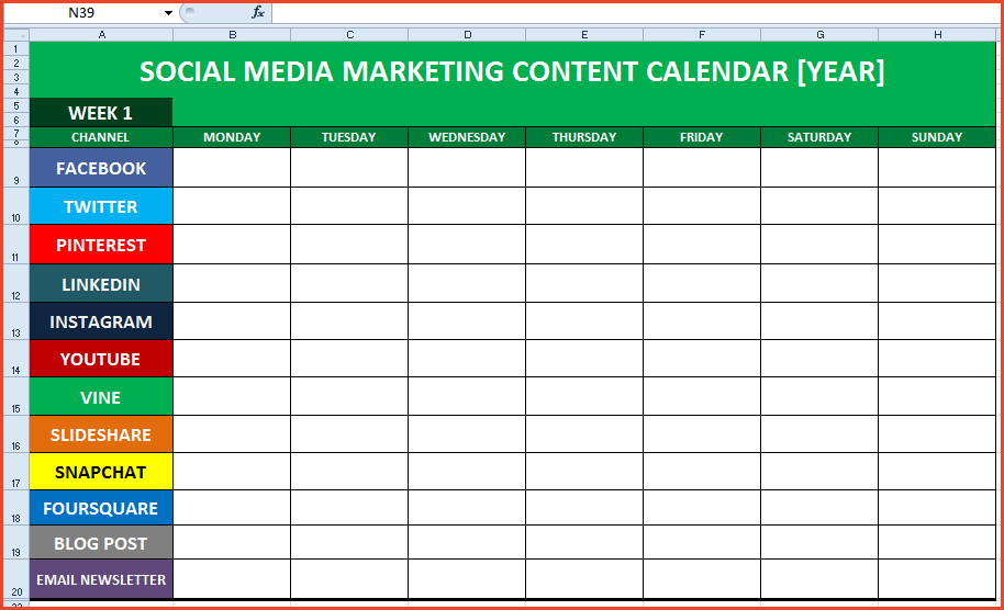 Social Media Plan Template Shatterlioninfo - Facebook media plan template