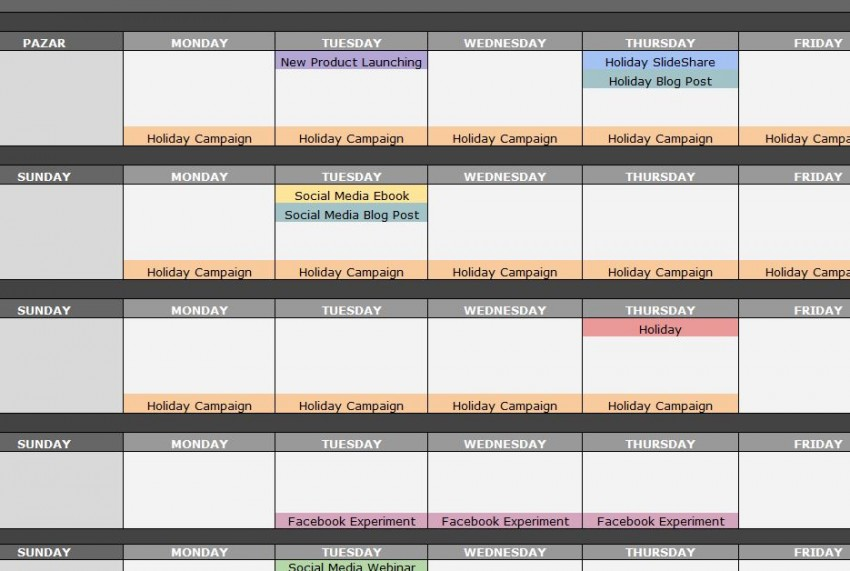 Social Media Schedule Template Shatterlioninfo - Social media schedule template
