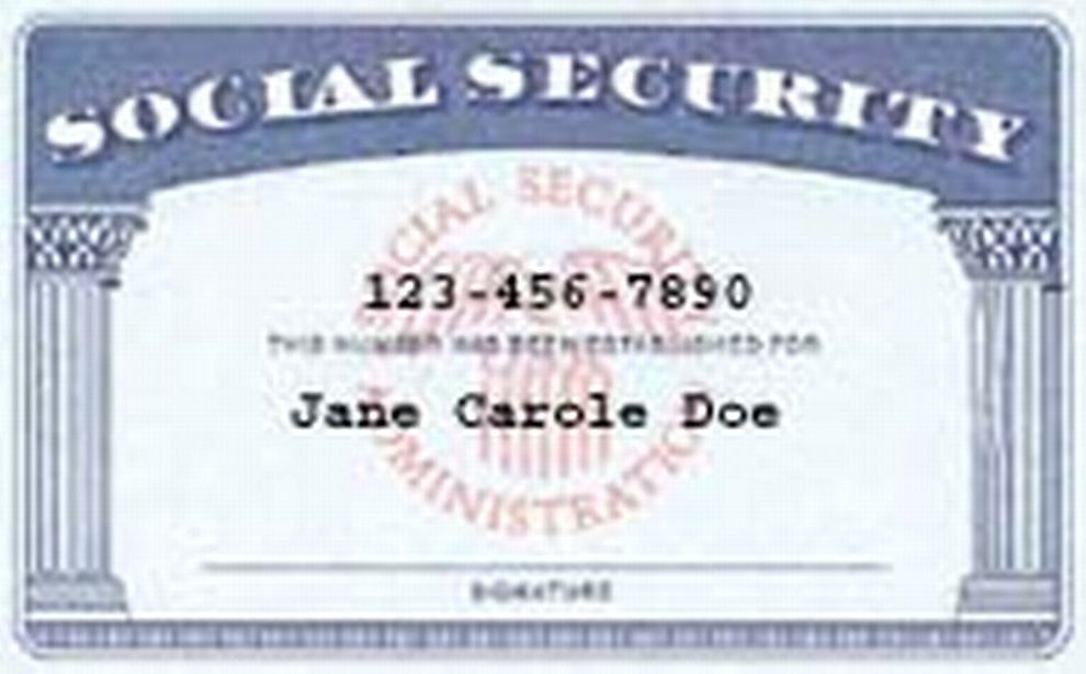 Social security card template pdf for Make a social security card template
