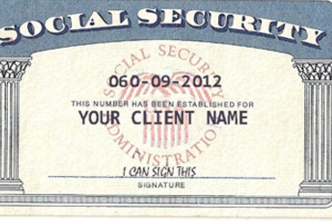 social security card template pdf