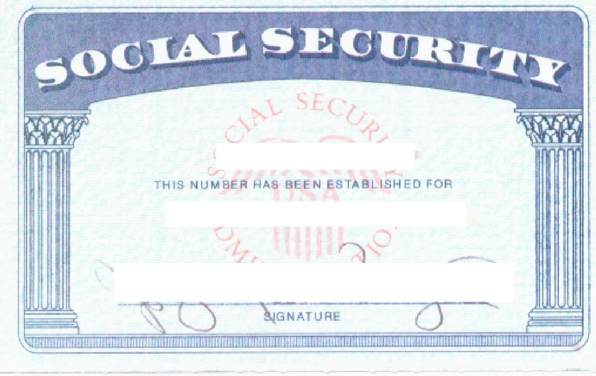 social security card template