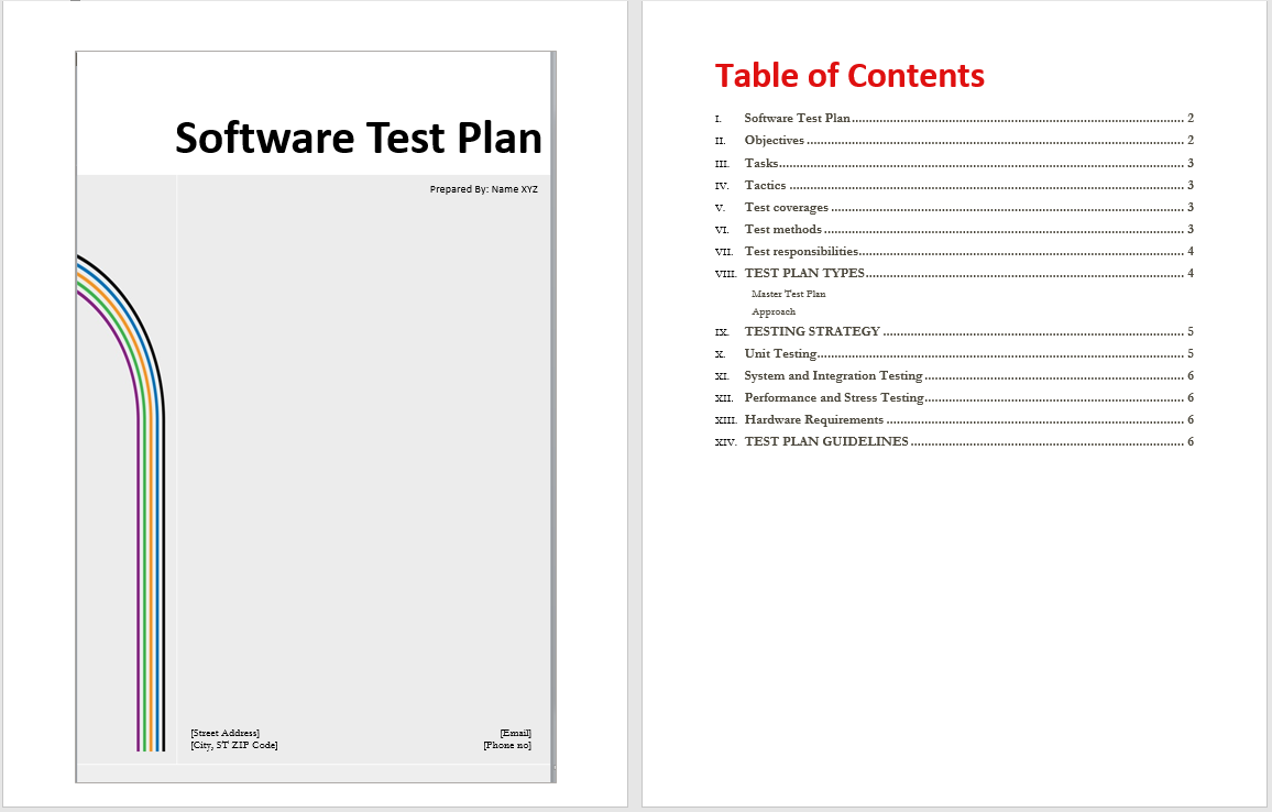 Software Test Plan Template | shatterlion.info