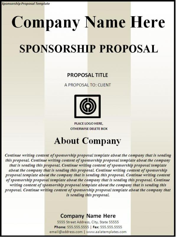 Sponsorship Proposal Template | shatterlion.info