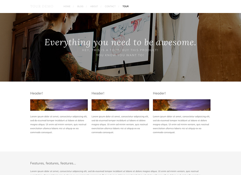 best squarespace template for video - squarespace five template