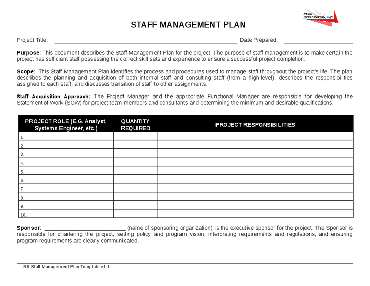 staffing plan template