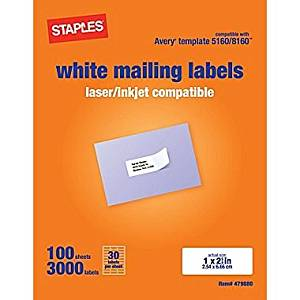 staples label templates