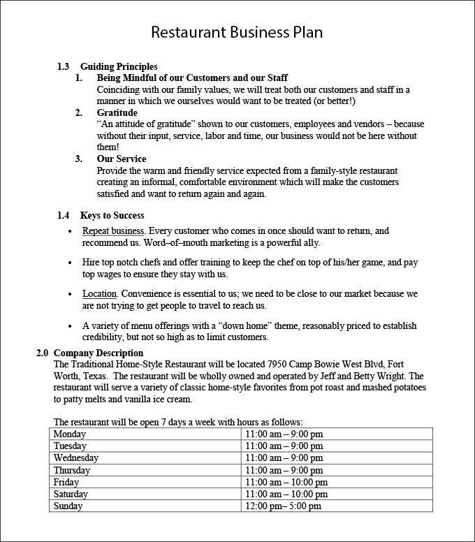 Startup Business Plan Template Pdf  ShatterlionInfo