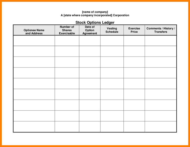 stock ledger template